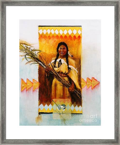 Reed Gatherer Framed Print