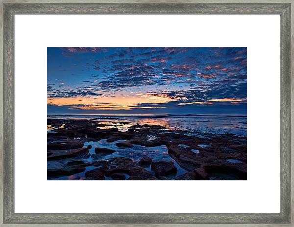 Reef Pool Sunset Reflections Framed Print