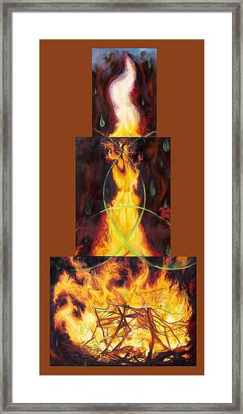 Refiners Fire Framed Print