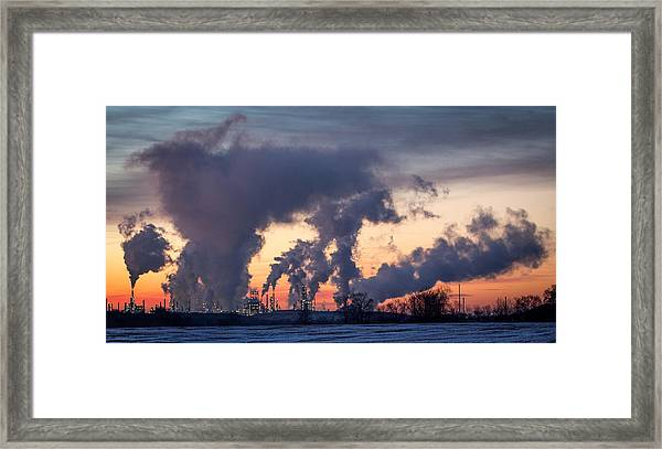 Framed Print featuring the photograph Flint Hills Resources Pine Bend Refinery by Patti Deters