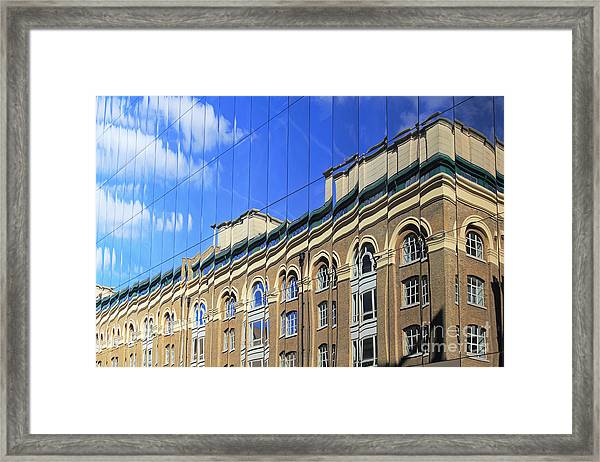 Reflected Building London Framed Print
