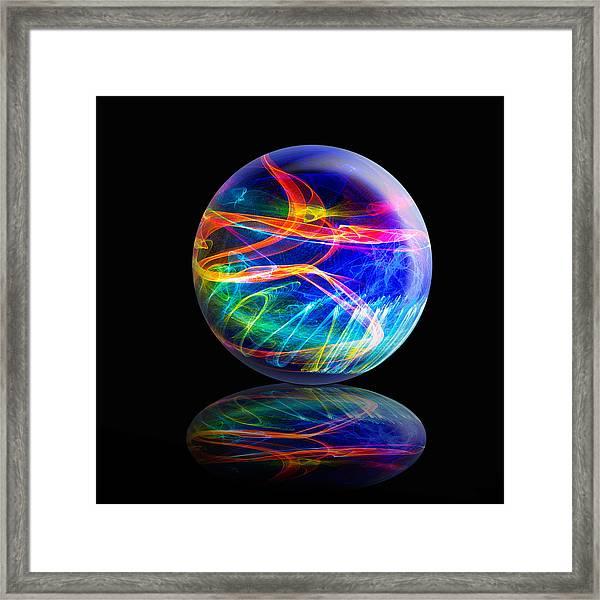Reflected Flame Globe Framed Print