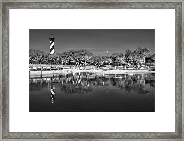 Reflecting Lighthouse  Framed Print