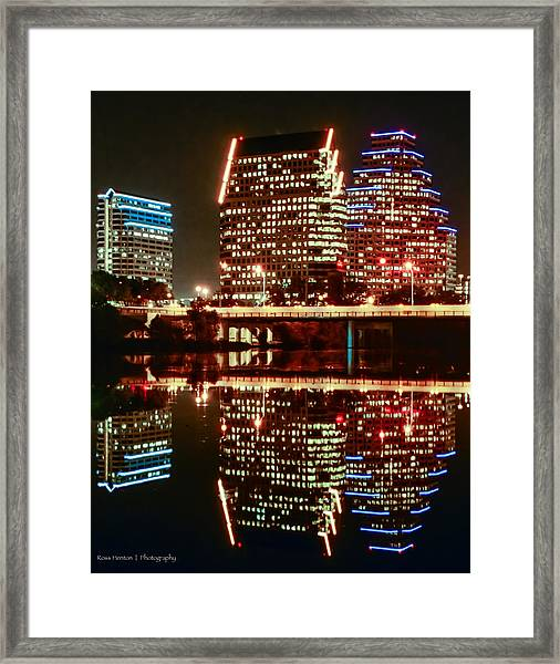 Reflecting On Austin Framed Print