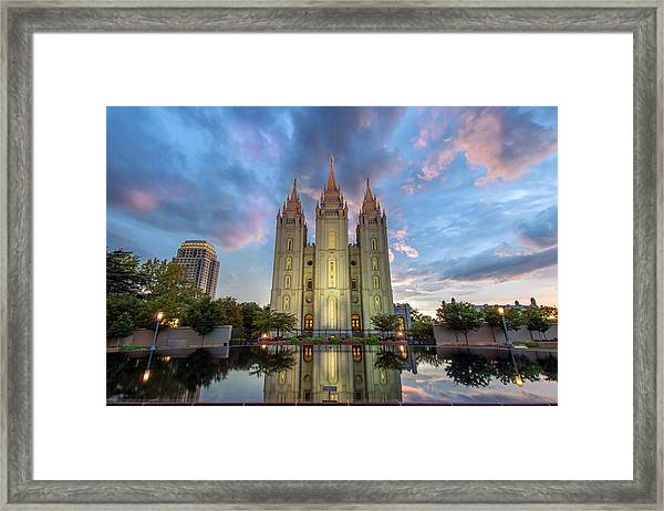 Framed Print featuring the photograph Reflecting On Faith by Dustin  LeFevre