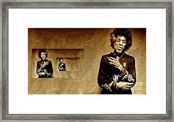 Reflecting On Jimi Hendrix  Framed Print