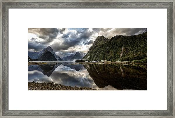 Reflecting On Milford Framed Print