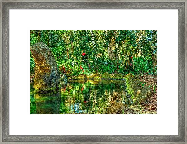 Reflecting On The Day Framed Print