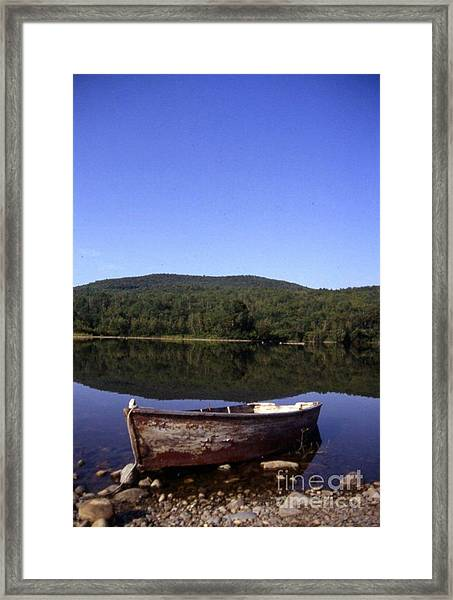Reflection At Coffin Lake Framed Print