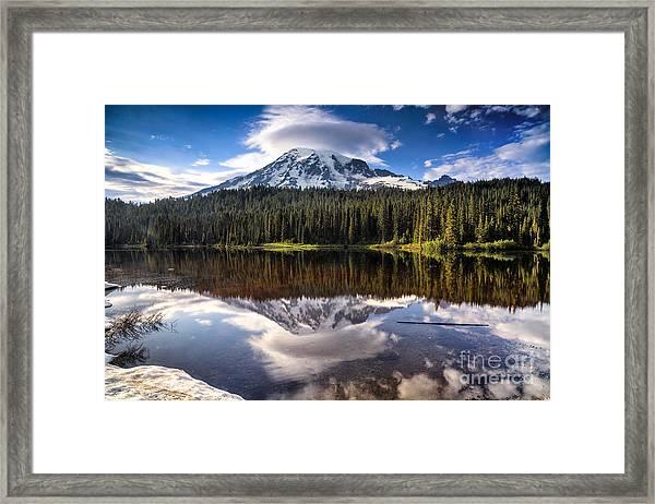 Reflection Lakes Sunset Framed Print
