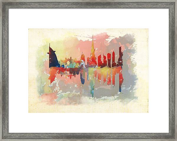 Reflection Of The City  Framed Print