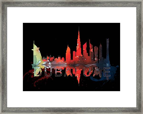 Reflection Of The City At Night Framed Print