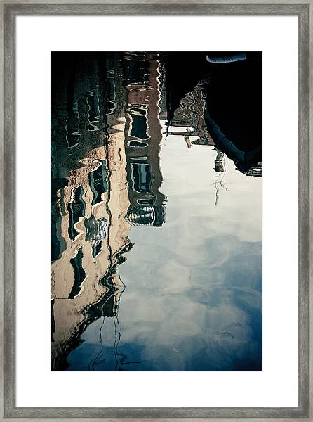 Framed Print featuring the photograph Reflection Of Venice On Grand Canal Italy by Raimond Klavins
