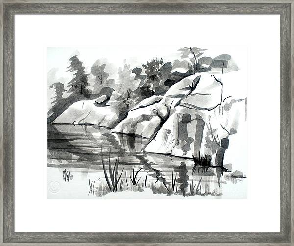 Reflections At Elephant Rocks State Park No I102 Framed Print