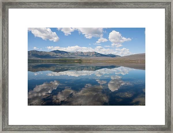 Reflections At Glacier National Park Framed Print