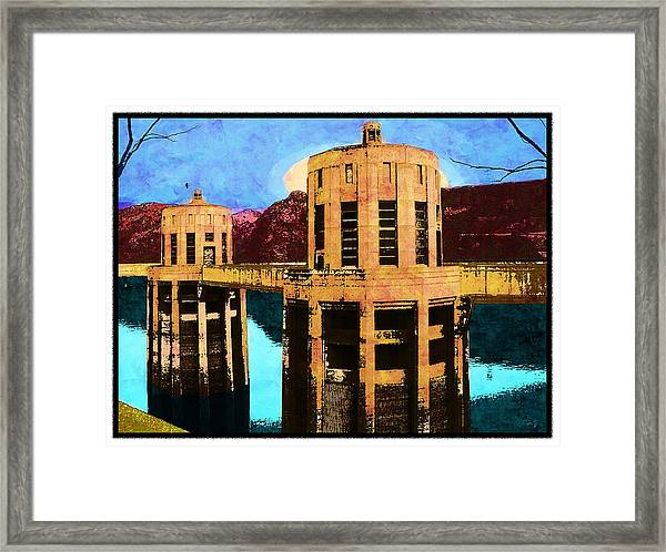 Reflections At Hoover Dam Framed Print
