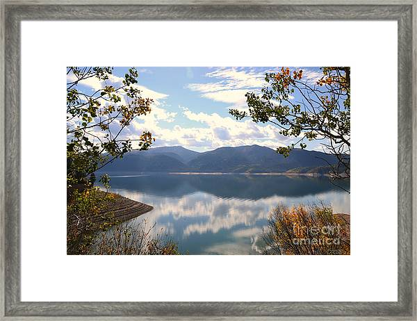 Reflections At Palisades Framed Print