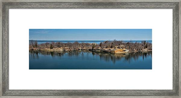 Reflections At The Quarry Framed Print