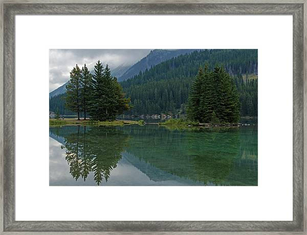 Reflections At Two Jack Lake Framed Print