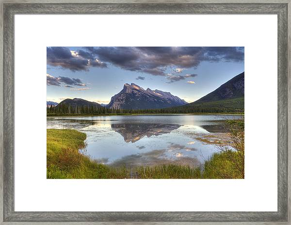Reflections At Vermillion Lakes  Framed Print