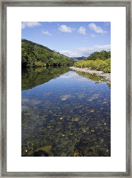 Reflections Framed Print by Debbie Cundy