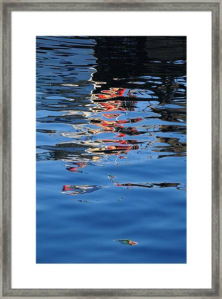 Reflections In Red Framed Print