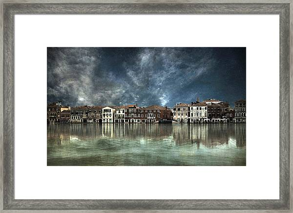 Reflections In Venice Framed Print by Nieves. Bautista