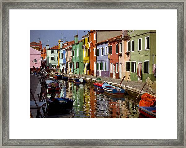 Reflections Of Burano Framed Print
