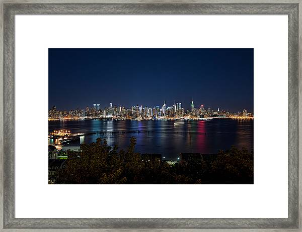 Reflections Of Midtown Manhattan Framed Print