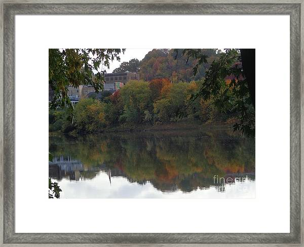 Reflections Of Pittston Framed Print