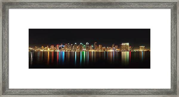 Reflections Of San Diego Framed Print