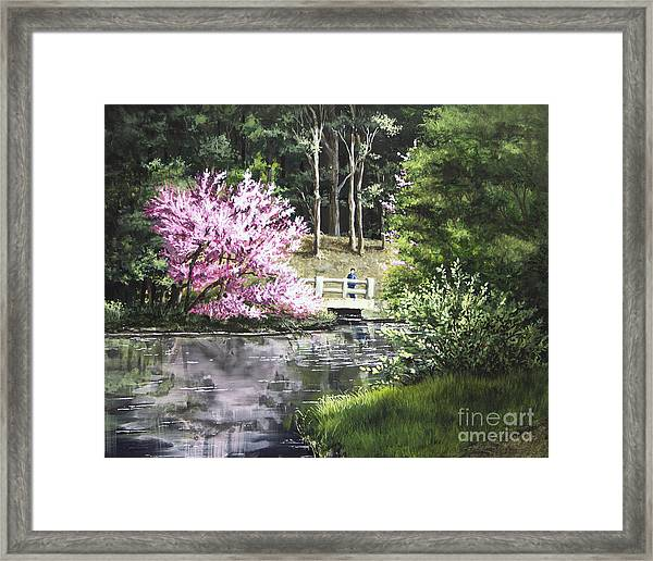 Reflections Of Spring Framed Print