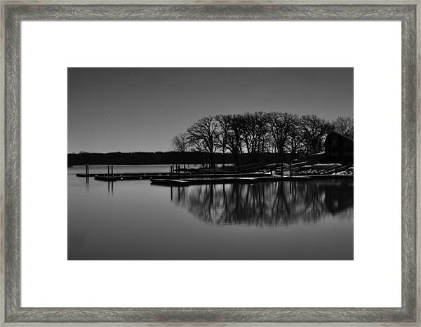 Reflections Of Water Framed Print