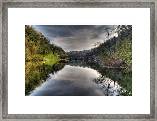 Reflections On Adda River Framed Print