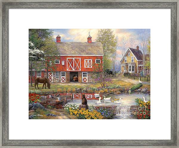 Reflections On Country Living Framed Print