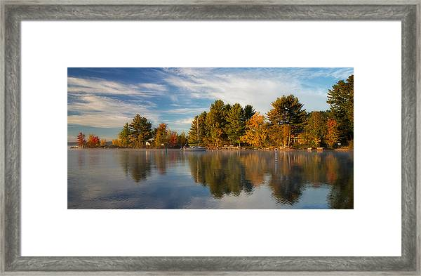Reflections On Long Lake Framed Print