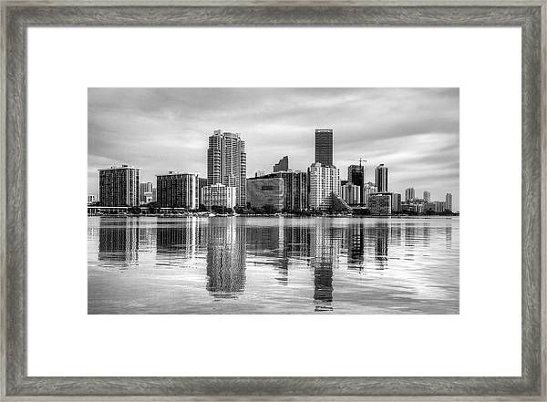 Reflections On Miami Framed Print by William Wetmore