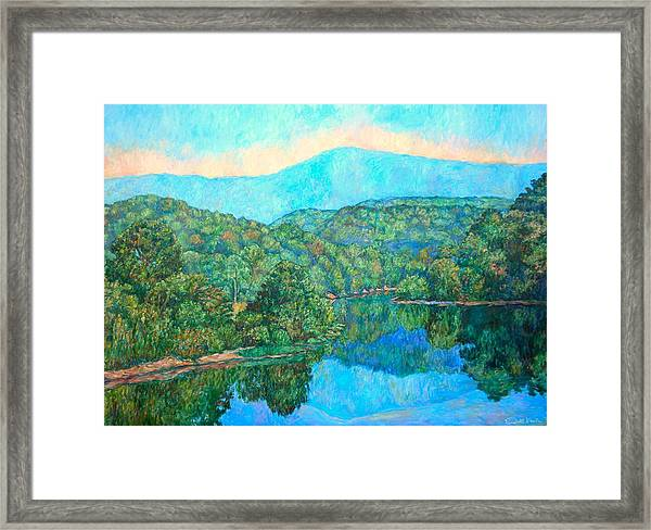 Reflections On The James River Framed Print