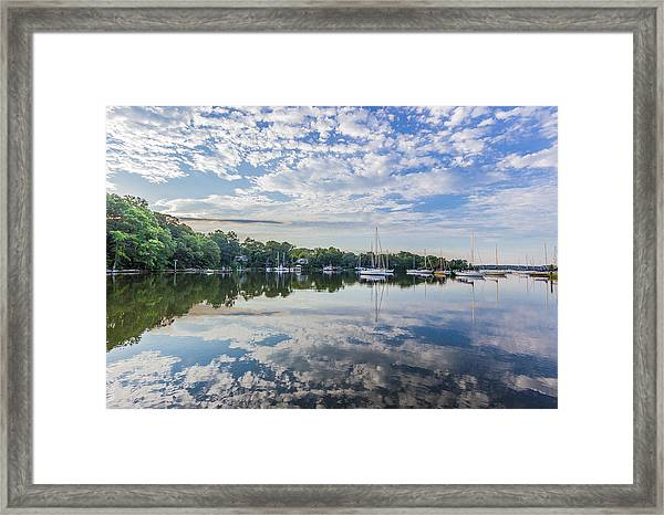 Reflections On The Magothy River Framed Print