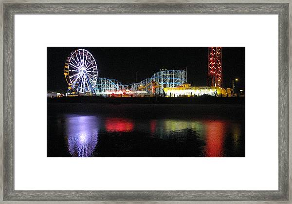 Reflective Amusement Framed Print