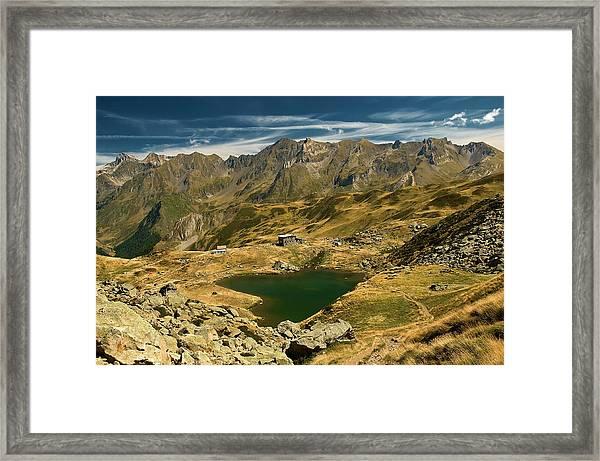 Refuge Du Lac Blanc Framed Print