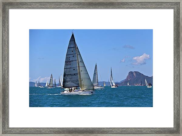Framed Print featuring the photograph Reggata by Debbie Cundy