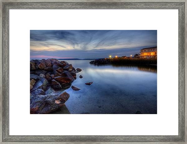 Rehoboth Bay Sunset At Dewey Beach Framed Print
