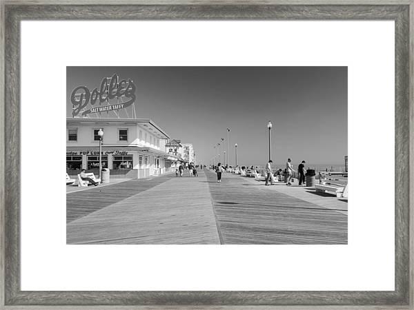 Rehoboth Beach Boardwalk Framed Print