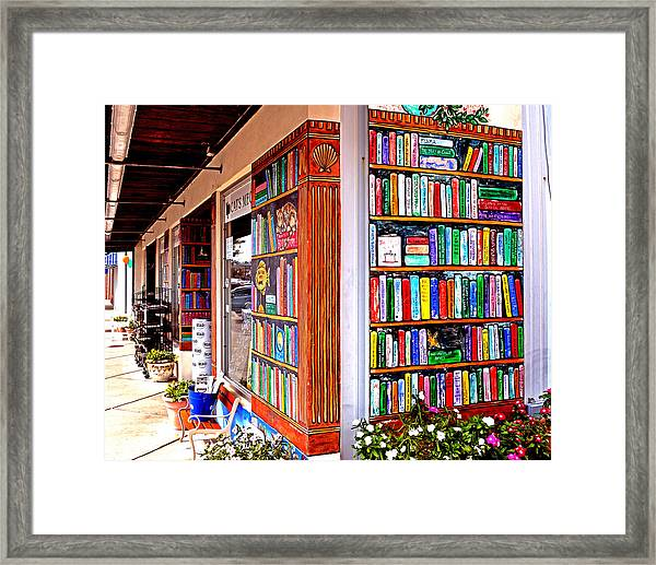 Rehoboth Beach Browseabout Books Framed Print