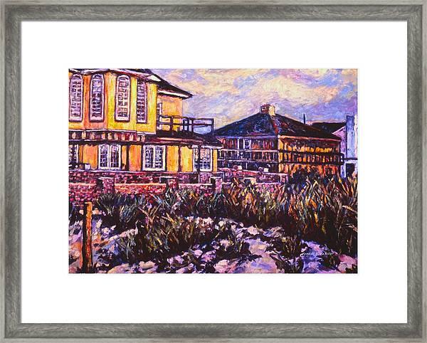 Rehoboth Beach Houses Framed Print