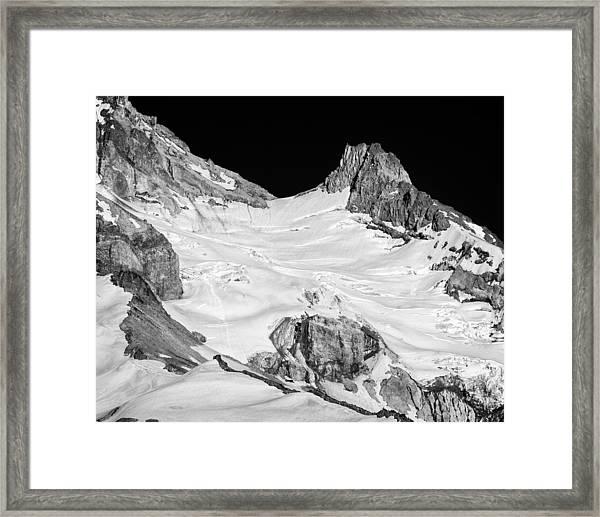 Reid Glacier And Illumination Rock Framed Print