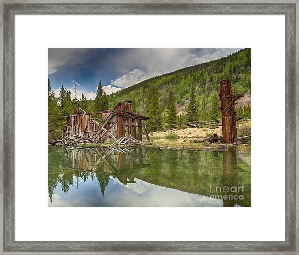 Reiling Dredge Reflection  Framed Print