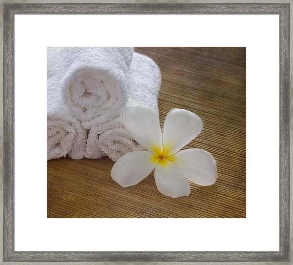 Relax At The Spa Framed Print
