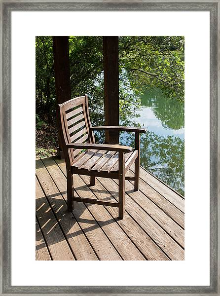 Alone By The Lake Framed Print